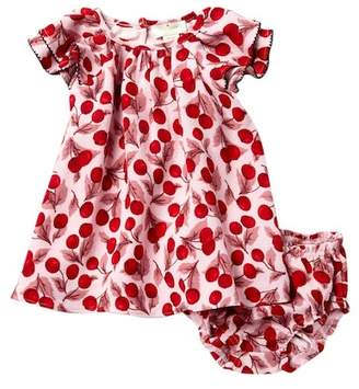 Kate Spade ruffle sleeve cherry dress & bloomer (Baby Girls)