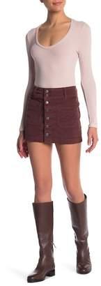 Free People Joanie Corduory Mini Skirt