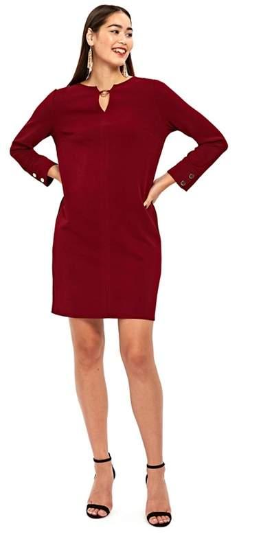 Berry Stud Detail Shift Dress