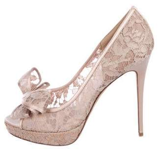 6740e99d1aa Pre-Owned at TheRealReal · Valentino Lace Bow-Accented Pumps