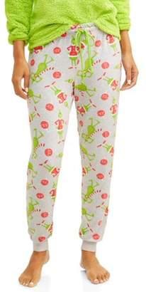 Dr. Seuss Grinch Women's and Women's Plus Grinch Toss Jogger