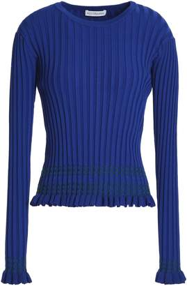 Altuzarra ラッフルトリム 刺繍入り リブ編みニット セーター