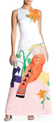 Alice + Olivia Honey Embroidered A-Line Dress