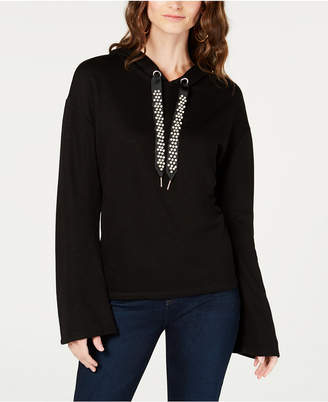 INC International Concepts I.n.c. Faux-Pearl-Embellished Pullover Hoodie