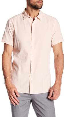 Kenneth Cole New York Seersucker Short Sleeve Regular Fit Shirt
