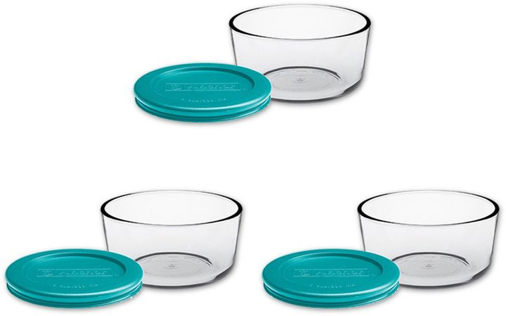 Anchor Hocking 6-Piece 4-Cup Round Basic Food Storage Set