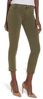 Hudson Nico Lace-Up Crop Super Skinny Jeans