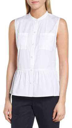 Nordstrom Signature Sleeveless Peplum Cotton Blouse