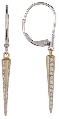 Meira T 14K Yellow Gold Diamond Spike Drop Earrings - 0.30 ctw