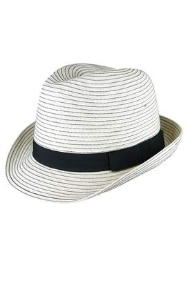 Morgan & Taylor Paper Braid Black Band Trilby Hat