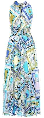 Emilio Pucci Beach Printed cotton and silk dress