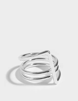 Sébastien Joffrey Monfort Ruban Ring in Silver Brass
