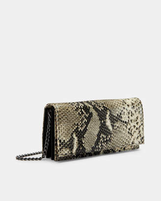 Ted Baker HIELDA Exotic leather cross body matinee bag