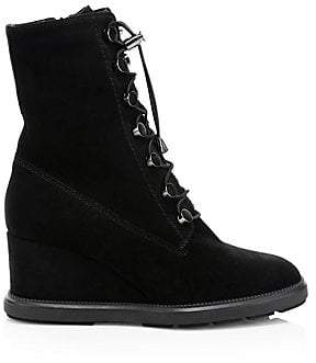 Aquatalia Women's Campbell Suede Wedge Boots