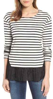 Women's Pleione Mixed Media Boat Neck Top $59 thestylecure.com