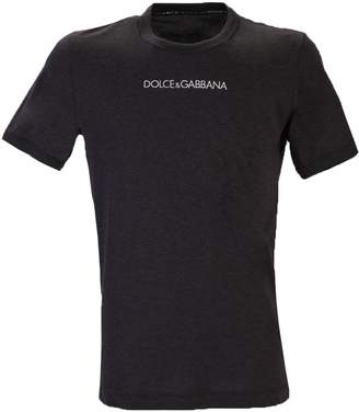 Dolce & Gabbana Grey Branded T-shirt