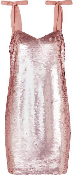 J.Crew - Yokners Paillette-embellished Tulle Mini Dress - Pink