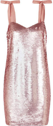 J.Crew Yokners Paillette-embellished Tulle Mini Dress - Pink