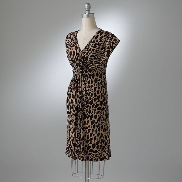 Apt. 9® Leopard Cinched Dress