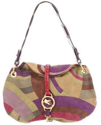 Etro Suede Shoulder Bag