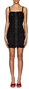 Dolce & Gabbana Women's Floral Lace Minidress-Black