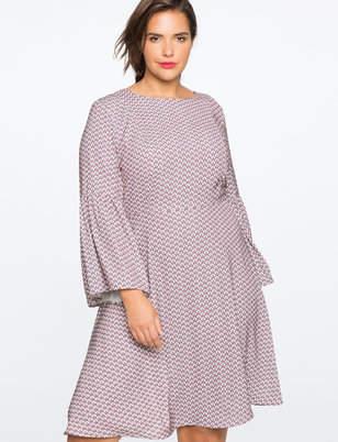 4fe8fb7441f ELOQUII Full Sleeve Fit and Flare Dress