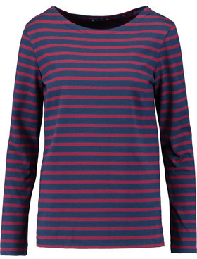 Petit Bateau Mariniere Striped Cotton-Jersey Top $85 thestylecure.com