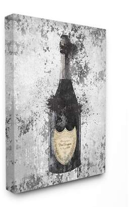 The Stupell Home Decor Collection Champagne Grey Gold Ink Illustration Stretched Canvas Wall Art, 30 x 1.5 x 40