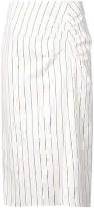 Tibi striped straight skirt