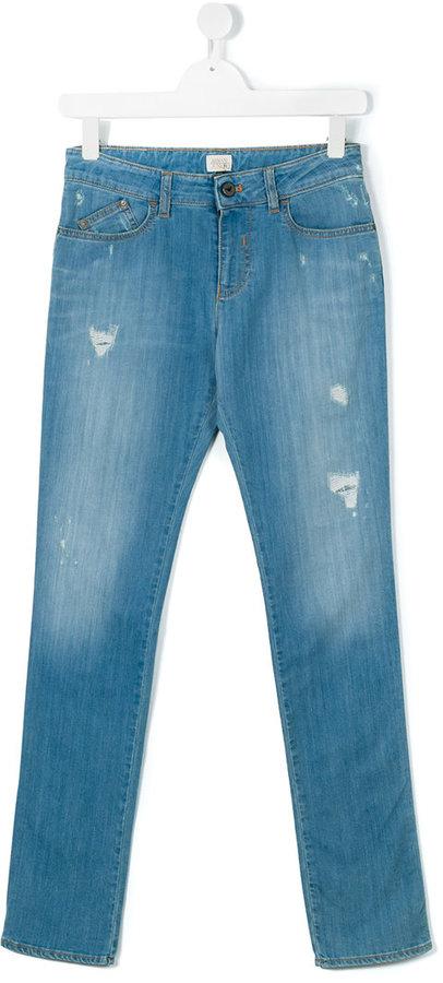 Armani JuniorArmani Junior Teen ripped detail jeans