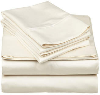 Home City Inc Superior 530 Thread Count Premium Combed Cotton Solid Sheet Set - Twin - White Bedding
