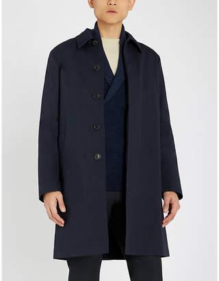 Corneliani Shawl-lapel wool and cashmere-blend cardigan