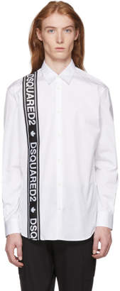 DSQUARED2 White Logo Tape Shirt