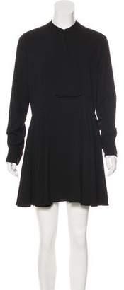 Saint Laurent Crepe A-Line Dress w/ Tags