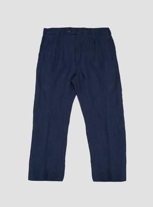 Linen Cotton Pleated Trouser