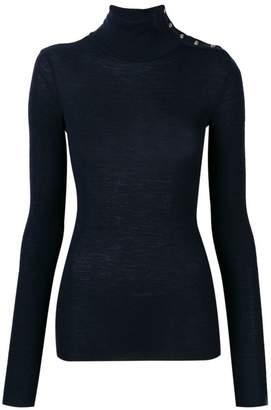 Pinko button-detail turtleneck sweater