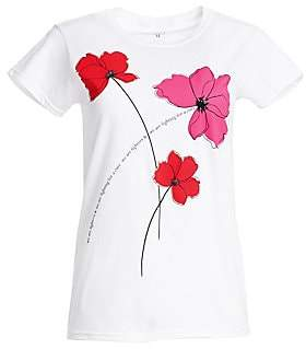 Carolina Herrera Women's Key To The Cure Poppy T-Shirt