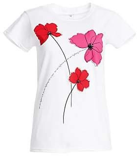 920fe7f63fb2 $35 Carolina HerreraWomen's Key To The Cure Poppy T-Shirt