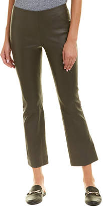 Vince Leather Flare Pant
