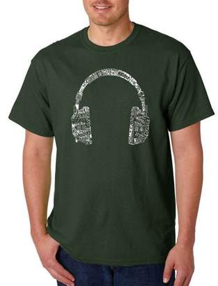 Pop Culture Big Men's T-Shirt - Headphones - Languages