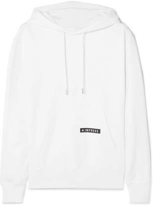 Helmut Lang Worldwide Printed Cotton-jersey Hoodie - White