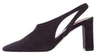 The Row Suede Round-Toe Pumps Suede Round-Toe Pumps