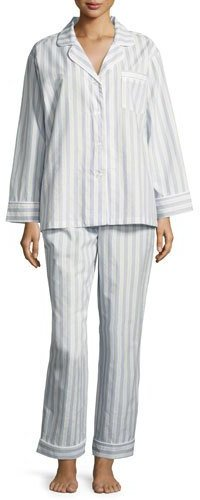 BedHeadBedhead Periwinkle Maypole Long-Sleeve Classic Pajama Set, Light Blue