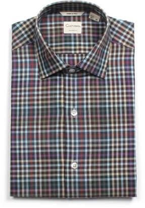 Culturata Men's Tailored Fit Soft Check Dress Shirt