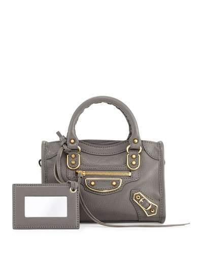 Balenciaga Balenciaga Metallic Edge Nano City AJ Crossbody Bag