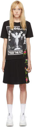 McQ Black Hybrid T-Shirt Dress