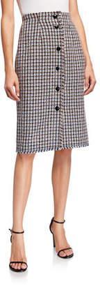 Rebecca Taylor Houndstooth Tweed Skirt