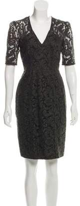 Burberry Knee-Length Guipure Lace Dress green Knee-Length Guipure Lace Dress