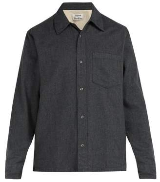 Acne Studios Long Sleeved Cotton Shirt - Mens - Grey