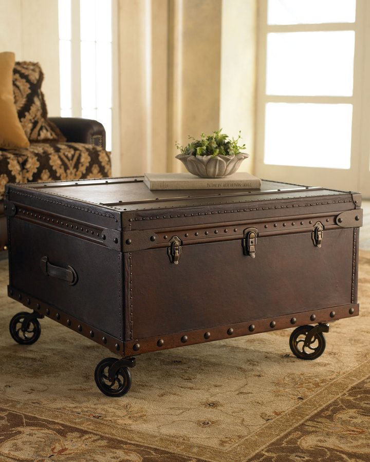 Antique Trunks As Coffee Tables: Shopping For Steamer Trunks For Use As A Coffee Table